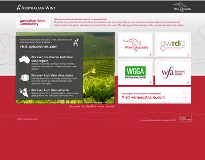 Wine Australia Industry website design