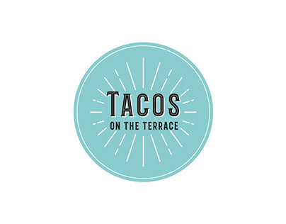 Tacos on the Terrace - Food Truck Logo