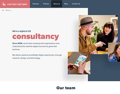 UI design for a local design consultancy