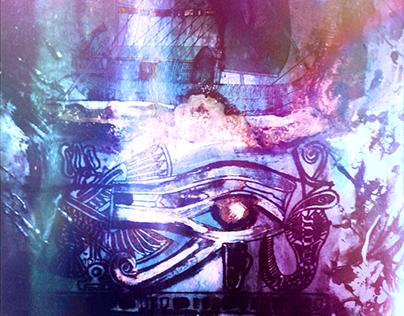 Wedjat - Eye of Horus lilac edit