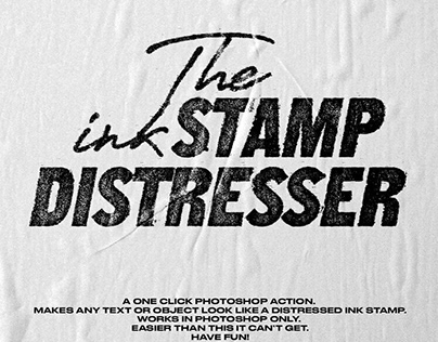 The Ink Stamp Distresser by Krister Lima