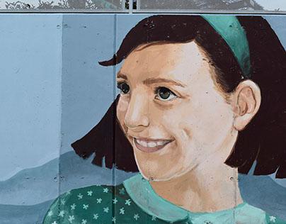 Mural in Avinyó, Catalonia, Spain
