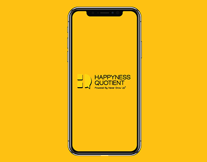 Happyness Quotient App's First Page Redesign