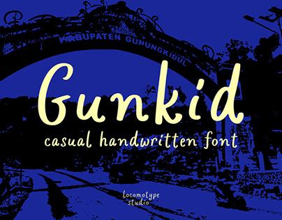 Gunkid Free Font