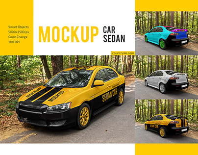 Car Sedan Mockup Set