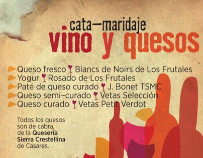 Vino y quesos, cata-maridaje en Benalauría, Málaga.