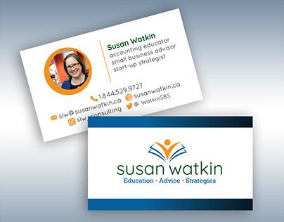 Susan Watkin Logo and Business Card Design