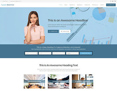 Wordpress Website - Lightning Sites - Susan Wanmer
