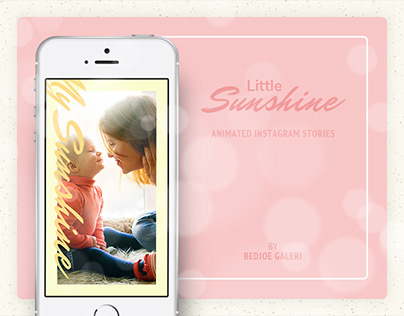 Little Sunshine Baby Animated Instagram Stories