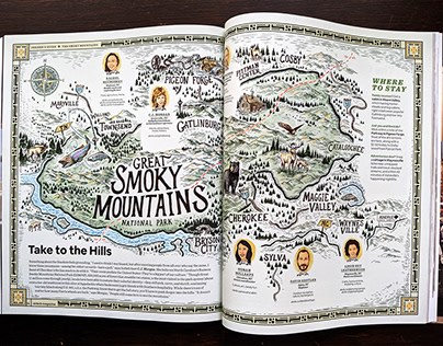 Airbnb Magazine Aug-Sept issue Smoky Mountains Package