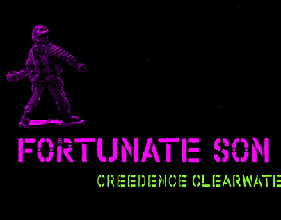 Clip Fortunate Son - Typography project