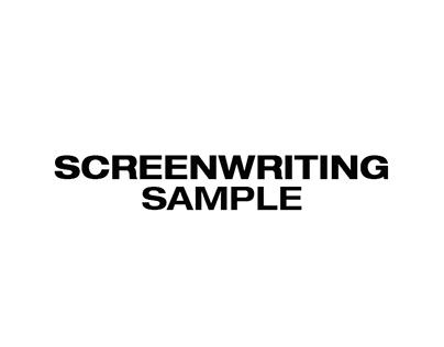 Screen Writing Sample