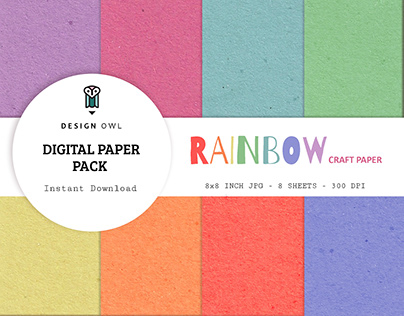 Rainbow craft paper pack