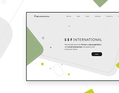 SEF International Website UX, Design and Development