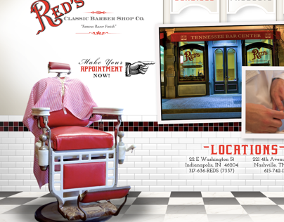 Red's Classic Barber Shop Website