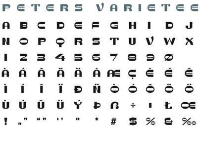 "Typografie: ""Peters Varietee"""