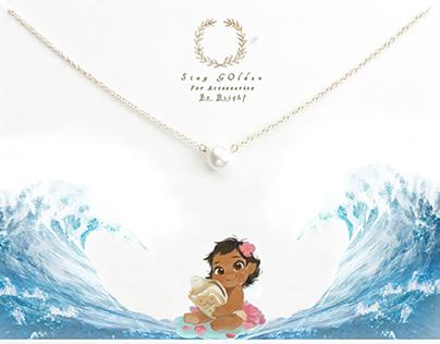Disney necklace card