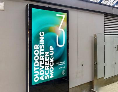 Outdoor Advertising Screen Mock-Ups 16