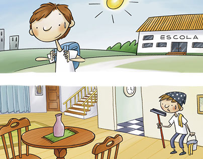 Ilustração para livro didático
