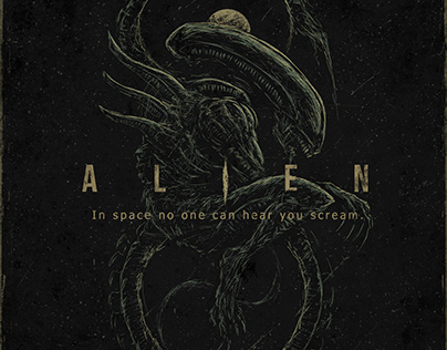 Alien. Posters for the fortieth anniversary