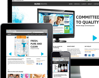 Blend Creates Responsive Site