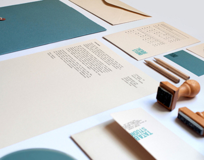 TATABI branding: stationery, stamps & logo construction