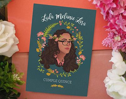 Laila's Quinceañera Invitation