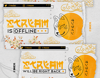 Kitsune Mask Theme | Stream Overlay