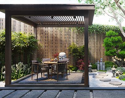 WOODEN HOUSE - LONG AN PROVINCE - VIETNAM