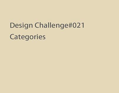 Design Challenge#021 Categories