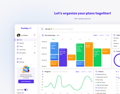 Dashboard for TaskSpy planner
