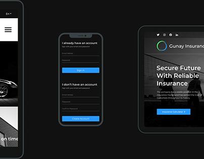 Gunay Insurance | UI/UX Design