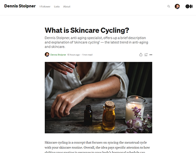 What is Skincare Cycling?