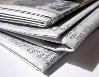 News print advertisements