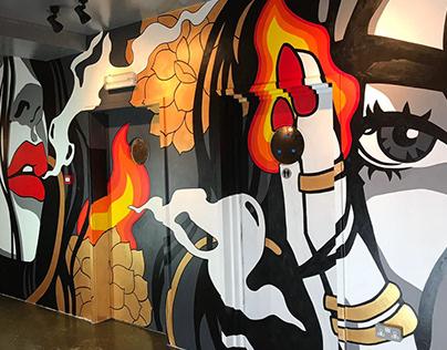 Louie's Restaurant - bespoke murals