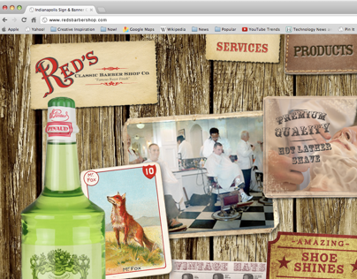 Red's Classic Barber Shop Co. Website Concept
