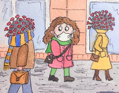 Коронавирус гуляет по улицам, Coronavirus walks