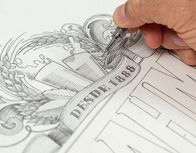 Brahma Beer - Illustration & Lettering for Label