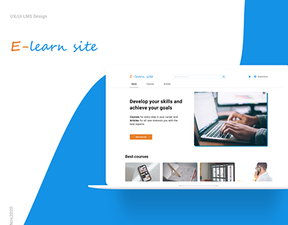 E-Learning Web Design (LMS Design)