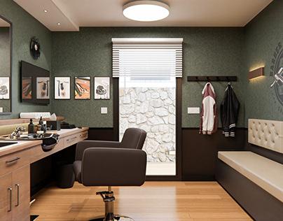 Barbershop_Archviz_Blender