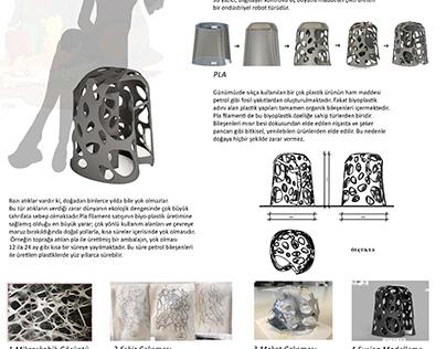 3dprinter baskı tabure tasarımı