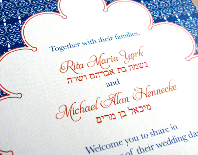 Hennecke Wedding Invitation