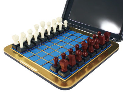 Stamp Chess Set