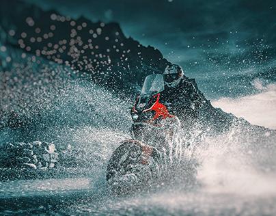 In a splash