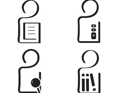 Sign system icons ..