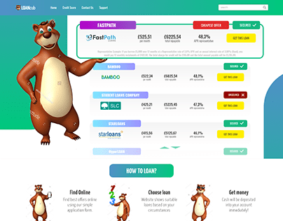 Loan Comparison Landing Page