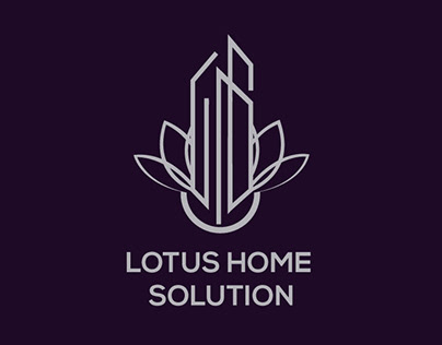 LOTUS HOME SOLUTION minimalist logo