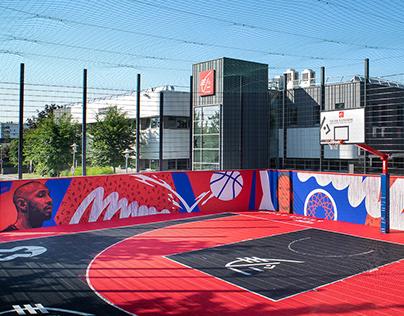 3x3 BASKET BALL COURT - MURAL