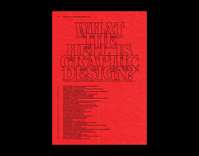 WHAT THE HELL IS GRAPHIC DESIGN? — POSTER