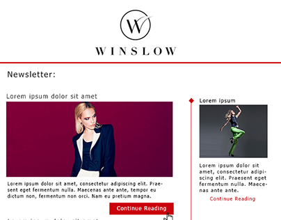 Newsletter Email Template for Winslow